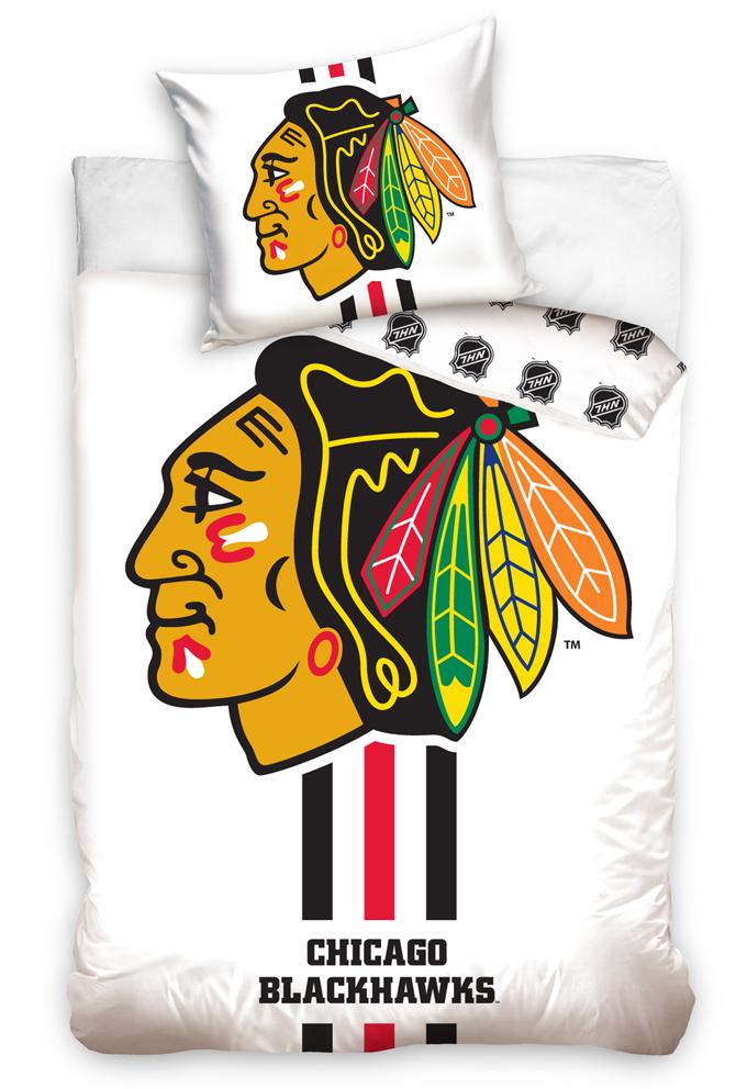 Hokejové povlečení NHL Chicago Blackhawks White