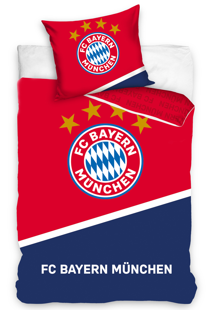 Fotbalové povlečení FC Bayern Mnichov Blau Boden