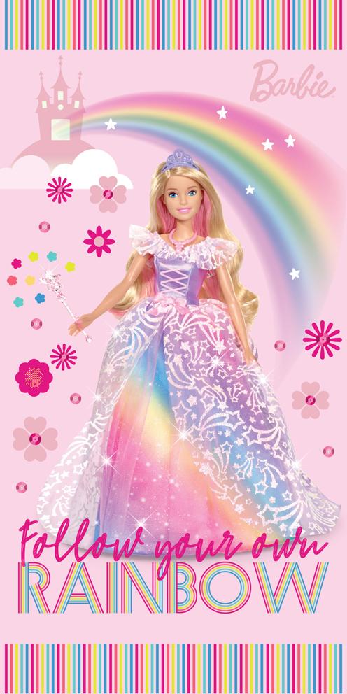 Dětská osuška Barbie Duhová Princezna