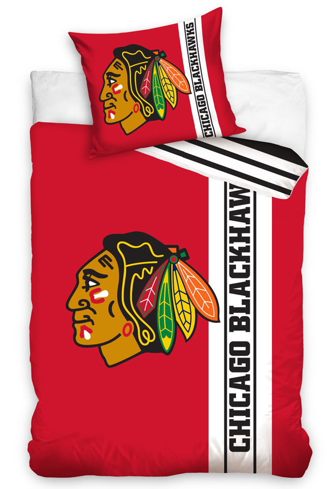 Hokejové povlečení NHL Chicago Blackhawks Belt Velikost: 135x200 + 80x80 cm