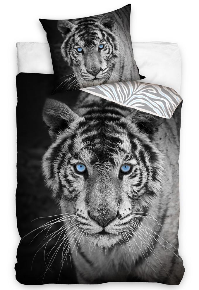 Bavlněné povlečení Tygr Blue Eyes