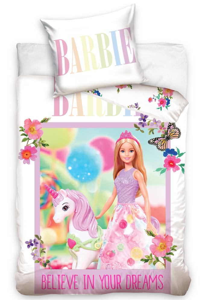Povlečení do postýlky Barbie a Jednorožec