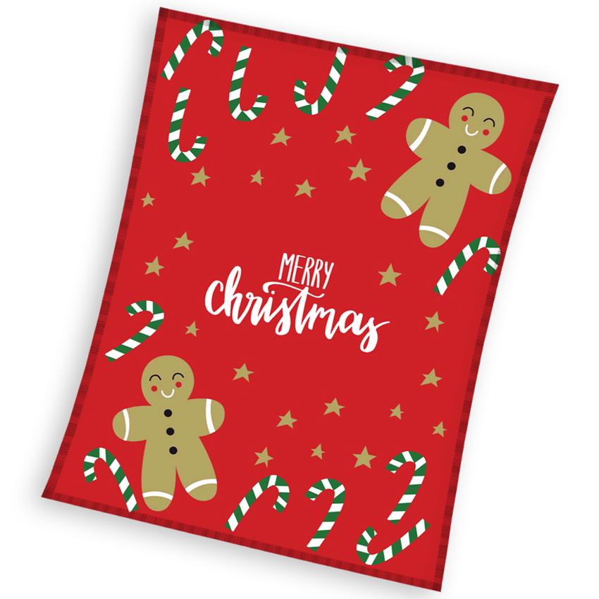 Vánoční deka Perníčci 130x170 cm