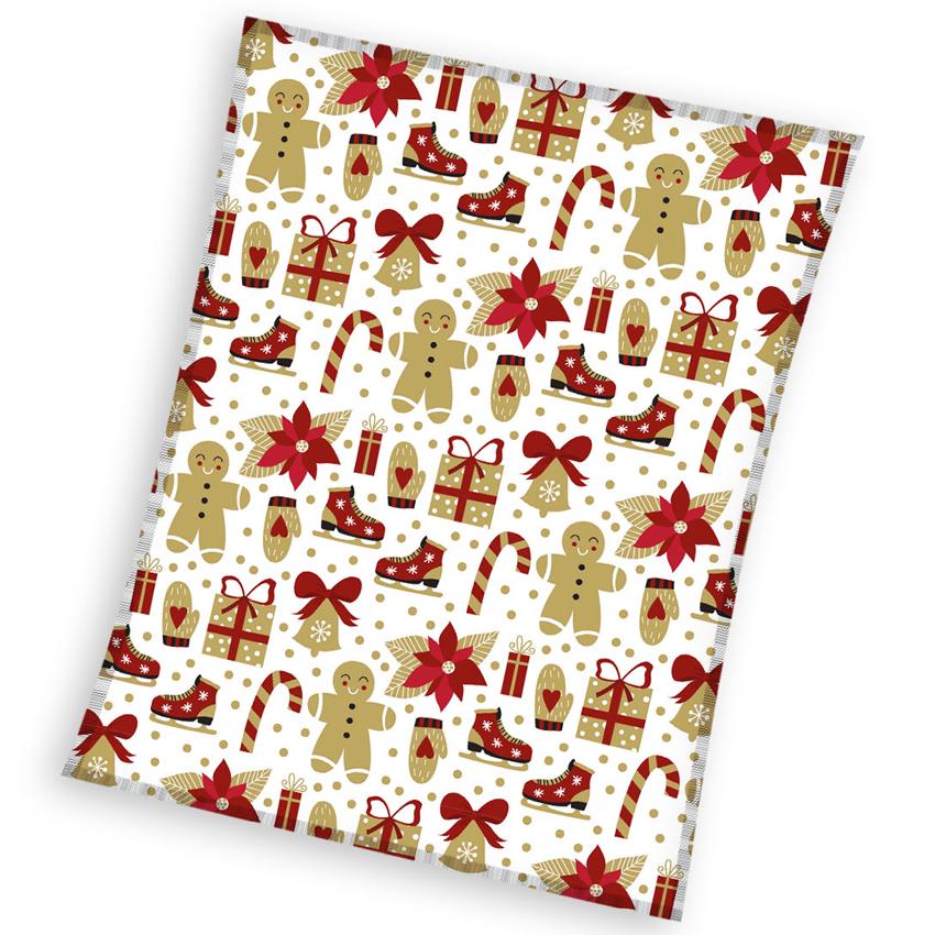 Vánoční deka Dárečky 150x200 cm