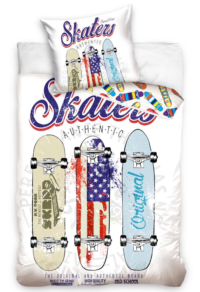 Bavlněné povlečení Skateboardy Authentic Skaters