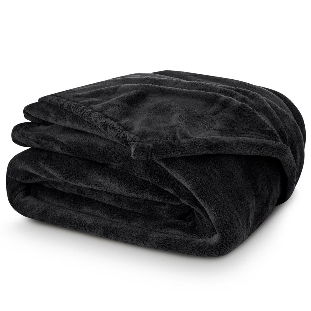 Deka mikroplyš 150x200 cm Černá