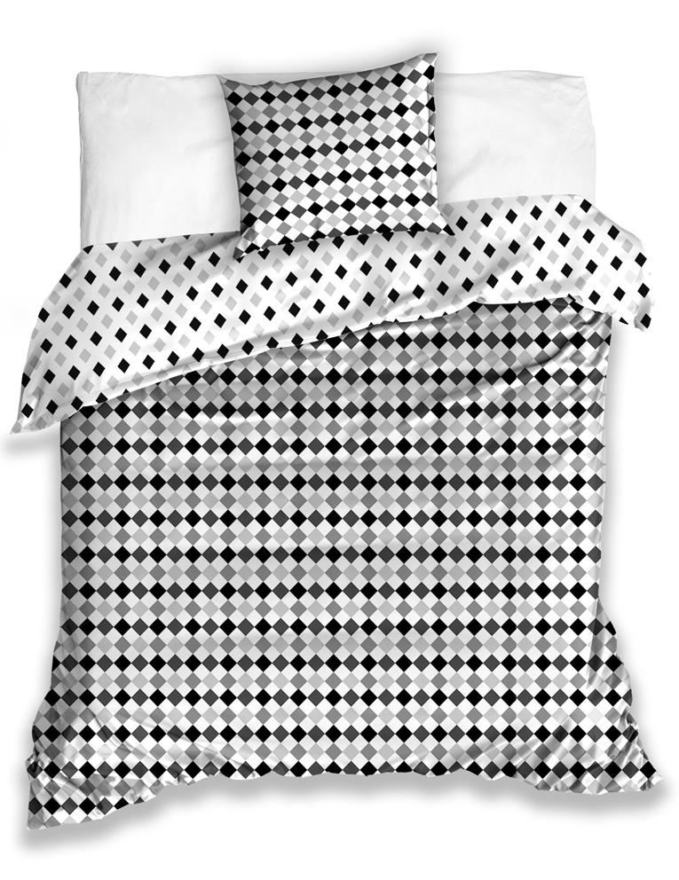 Bavlněné povlečení Raster Šedé Velikost: 140x200 + 70x90 cm