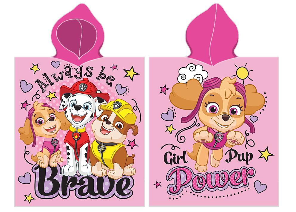 Dětské pončo Tlapková Patrola Girl Pup Power