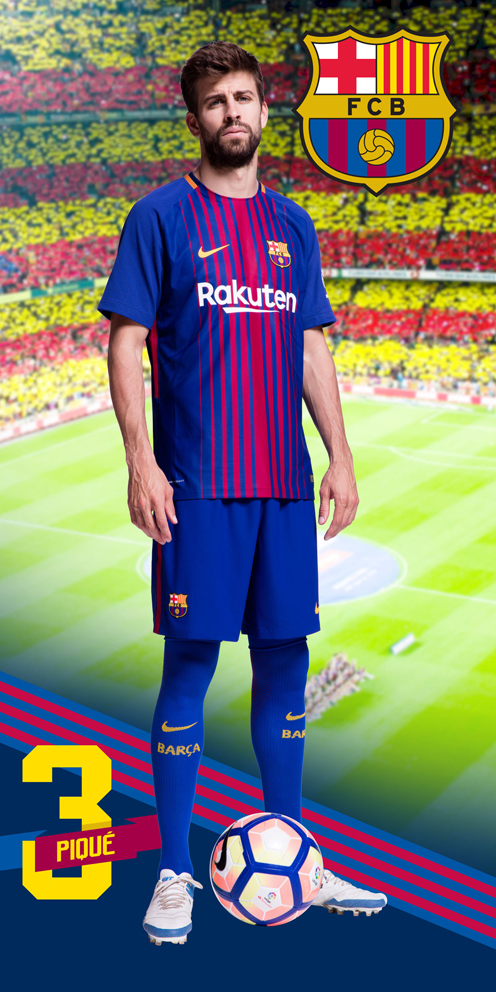 Fotbalová osuška FC Barcelona Pique 2018