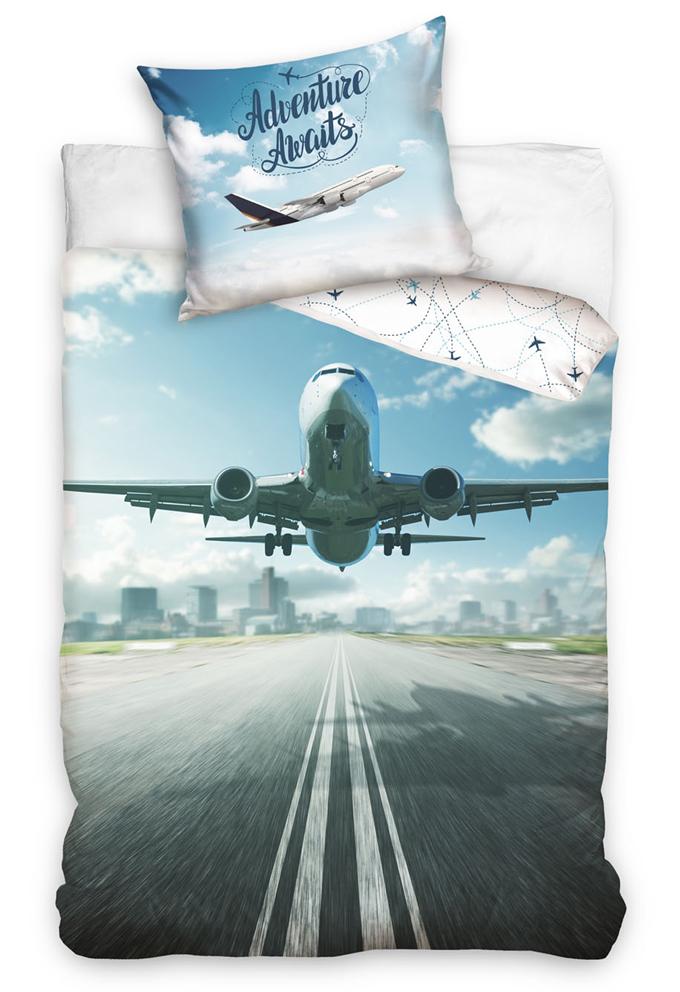 Bavlněné povlečení Dopravní letadlo