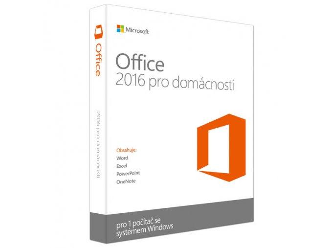 Microsoft Office 2016 pro studenty a domácnosti - Elektronická licence CZ 79G-04723