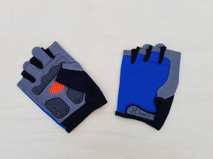 Posilovací gelové rukavice BLUE