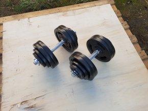 Nakládací činky 2x30kg HSB