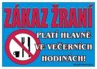 Certifikát - Zákaz žraní