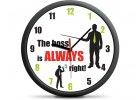 Nástěnné hodiny Šéf má vždycky pravdu