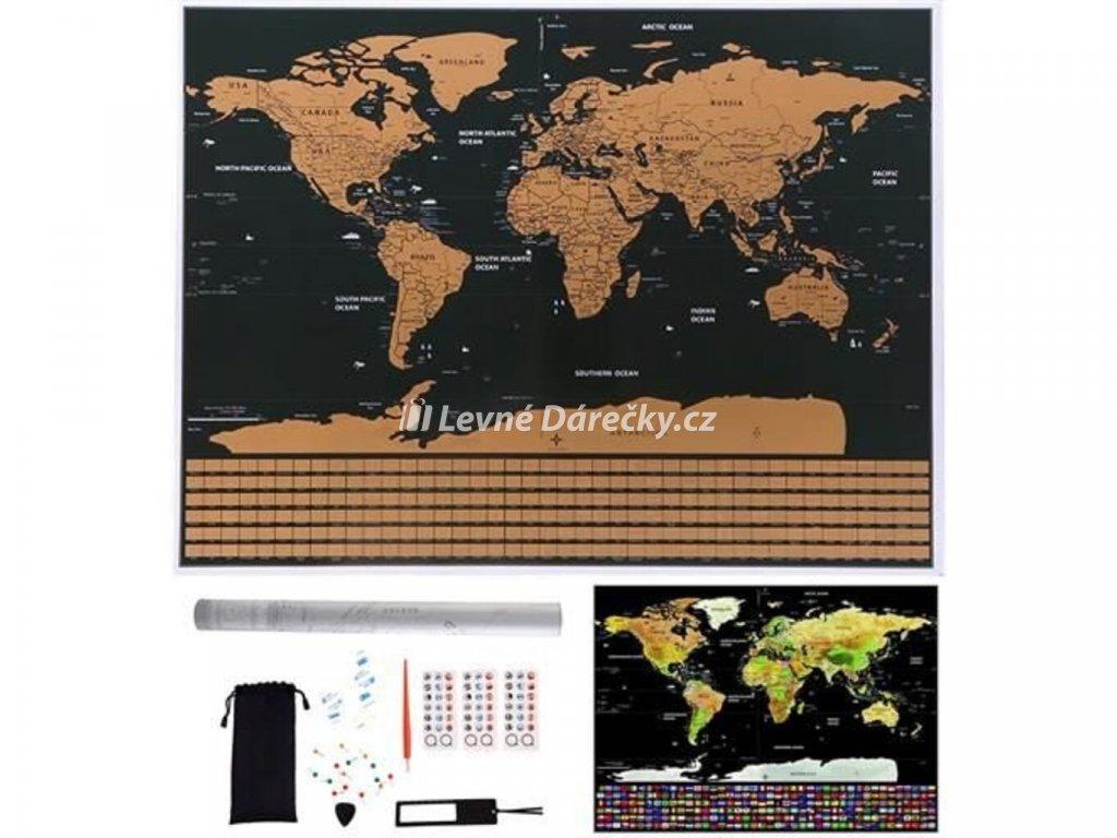 velka stiraci mapa sveta s vlajkami deluxe 82 x 59 cm s prislusenstvim cerna 8