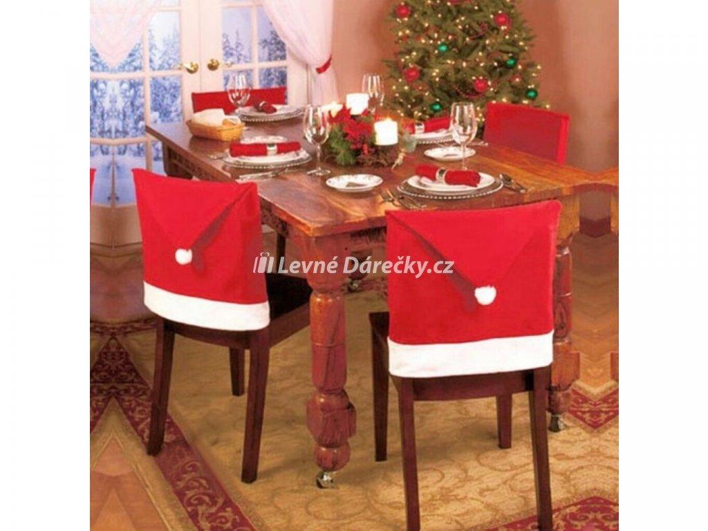 Vánoční potahy na židli Santa Claus 4ks 7
