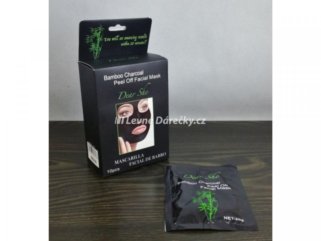 Černá kolagénová maska slupovací 10 x 20 g Dear She1