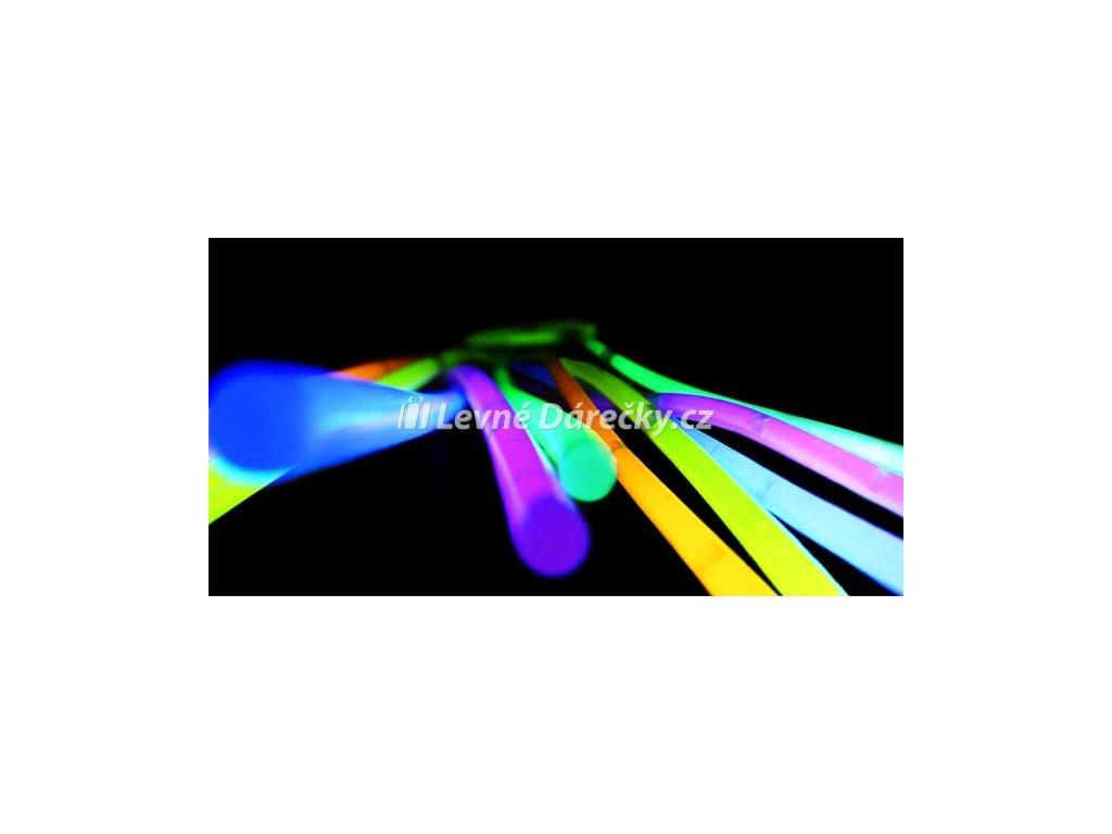 Svítící náramky Lightstick 100 ks barevné