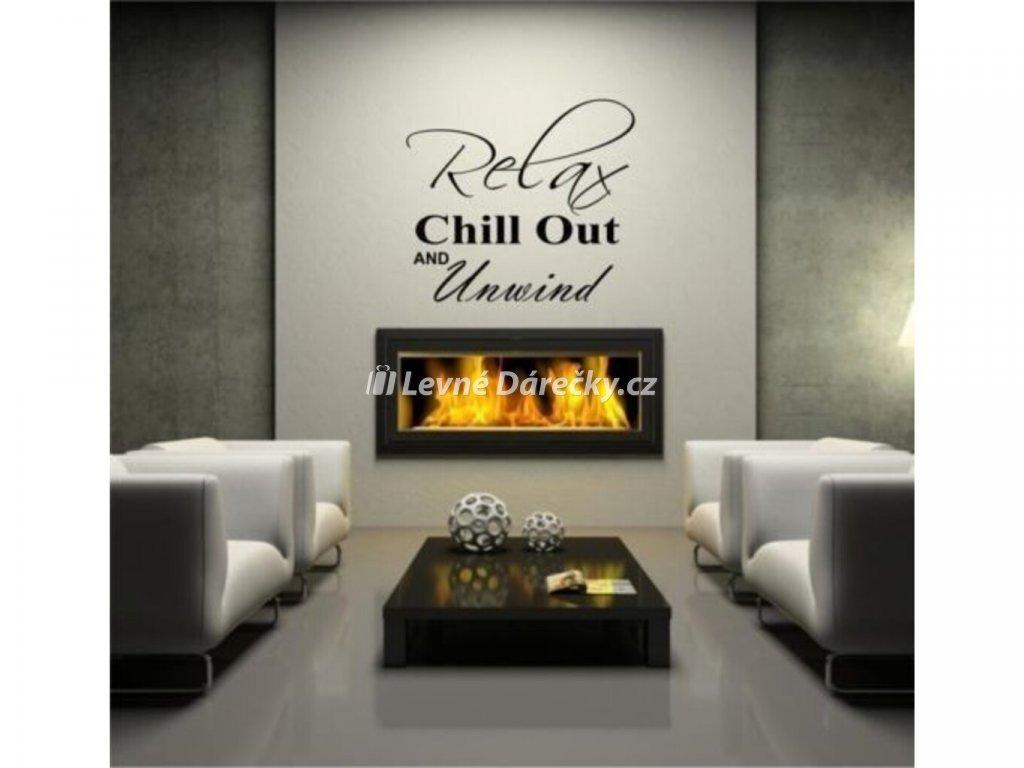 Dekorativní nálepka na zeď - RELAX AND CHILL OUT