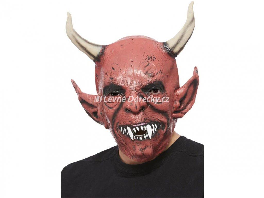 maska cert s velkymi rohy 1
