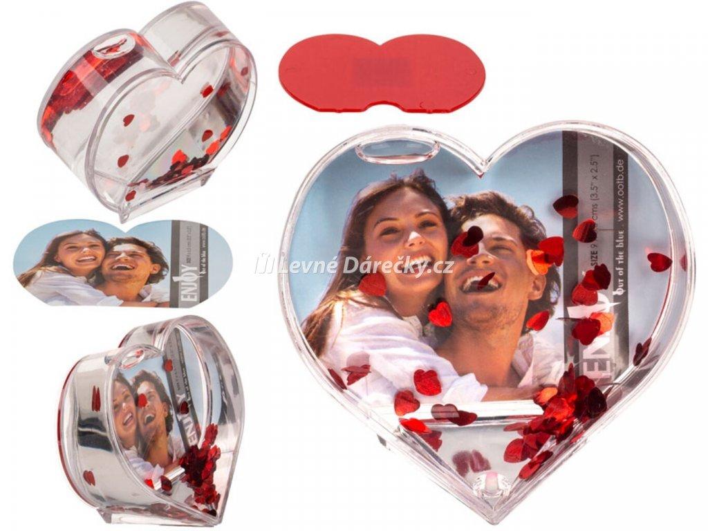 3d fotoramecek ve tvaru srdce 1