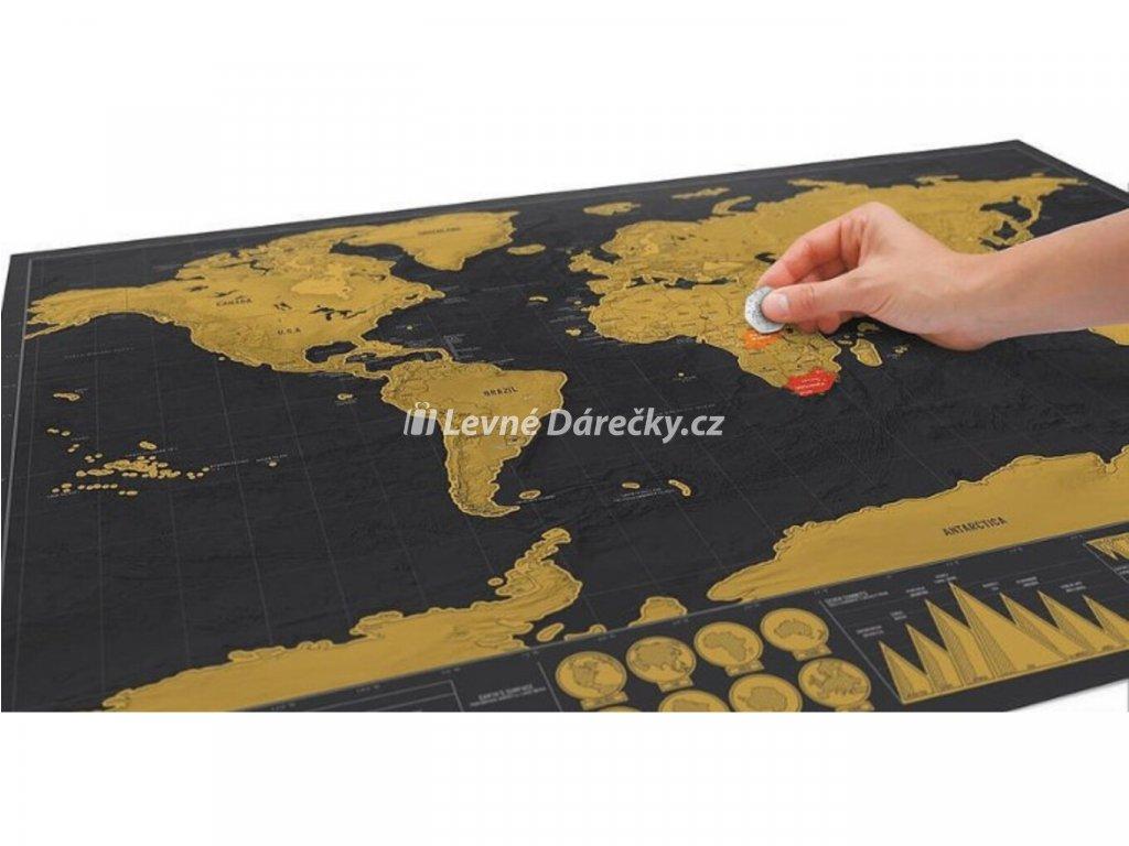 Stírací mapa světa deluxe2