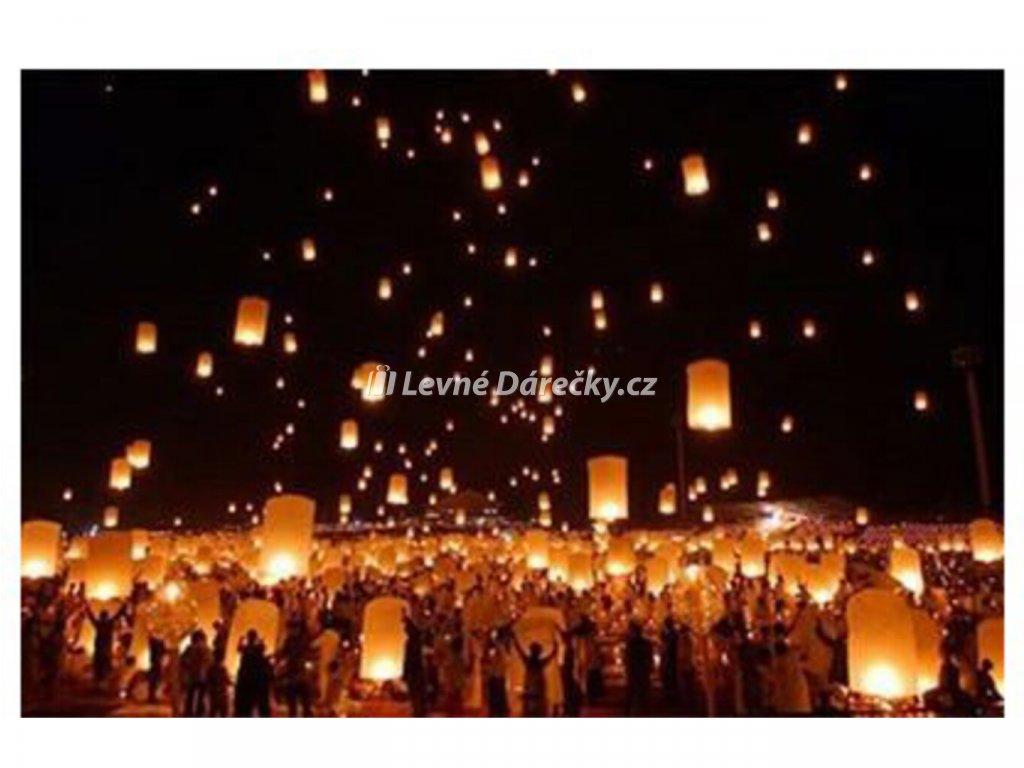 Lampion přání - Bílý