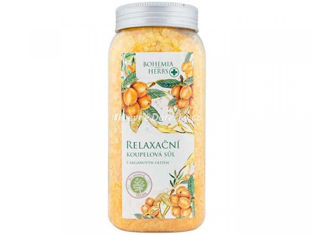 Arganový olej relaxační koupelová sůl 900g