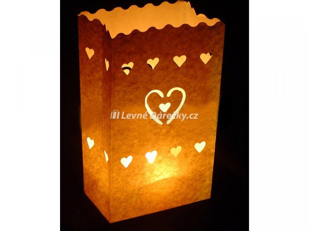 Dekorativní svítilna Malé srdce