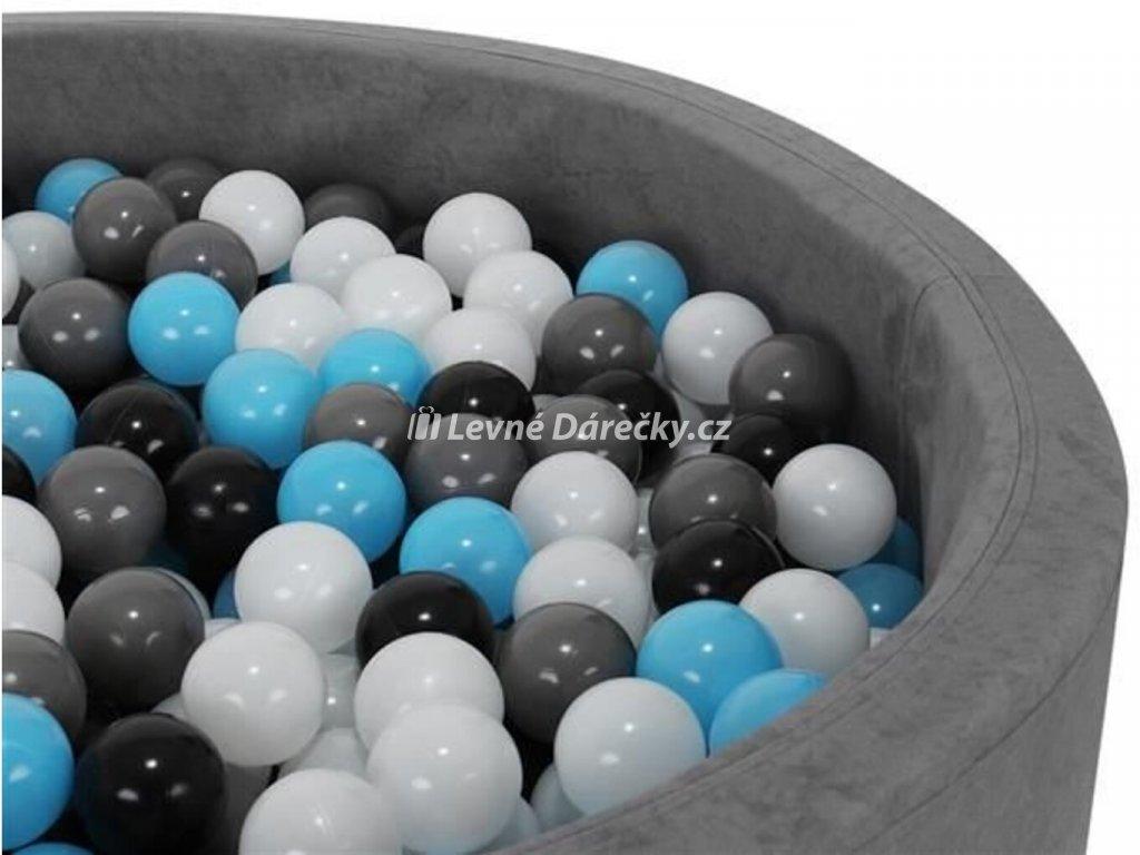 Plastové míčky do bazénu modro černé 5cm