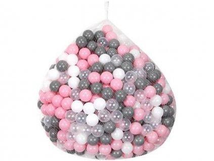 Plastové míčky do bazénu šedo růžové 5cm 100ks 1