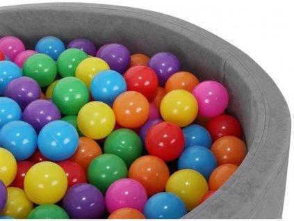 Plastové míčky do bazénu barevné 7cm