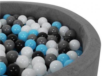 Plastové míčky do bazénu modro černé 7cm