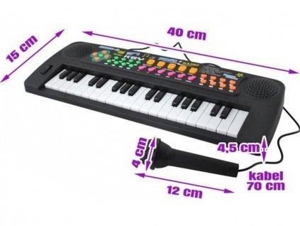 Elektronické klávesy 37 kláves 3