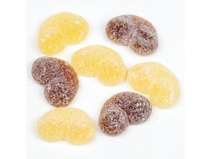 zele cola bonbony prsa