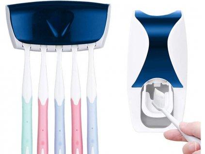 Dávkovač zubní pasty a držák kartáčků