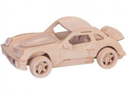 3D dřevěné puzzle auto
