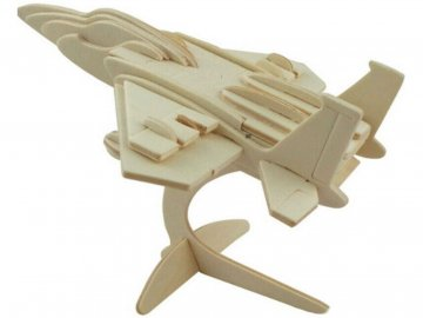 3D dřevěné puzzle letadlo