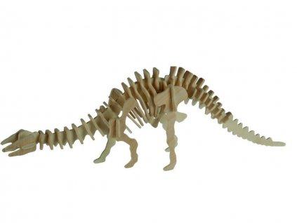 3D dřevěné puzzle dinosaurus