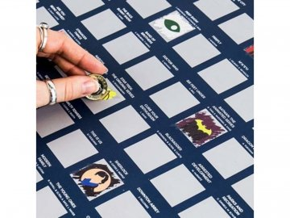 Stírací plakát 100 televizních sérií Bucket list