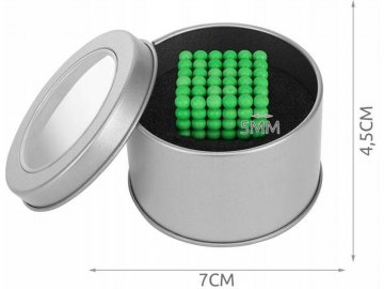 Neo cube 5mm fluo zelené