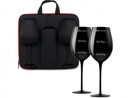 slavnostni obri sklenice na vino who cares 2ks v darkovem pouzdru 1