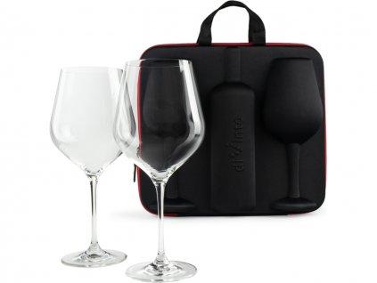 slavnostni obri sklenice na vino 2ks v darkovem pouzdru 12