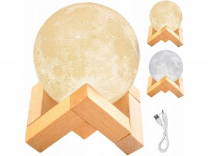 3d lampicka mesic moon light 8cm 1