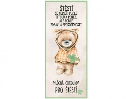 darkova mlecna cokolada 100 g pro stesti medved se ctyrlistkem 1