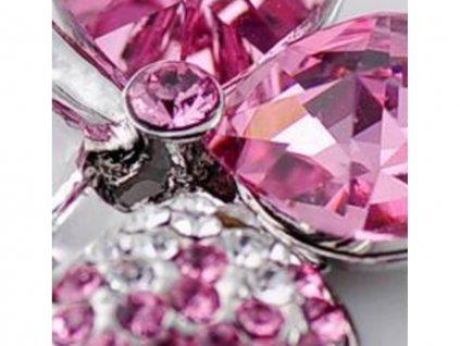 nahrdelnik ctyrlistek swarovski elements l rose