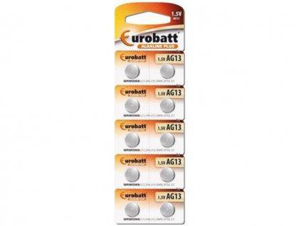 Alkalické baterie Eurobatt AG13 1,5V (10ks)