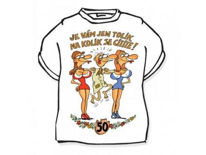 Tričko - výročí muž 50