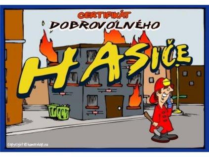 Certifikát dobrovolného hasiče